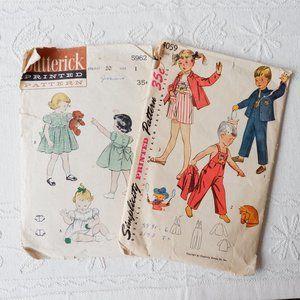 50s Patterns - Kids Dress, Overalls, Coat, Shorts